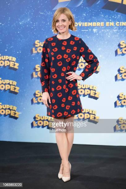 Actress Alexandra Jimenez attends the 'Superlopez' photocall on November 20 2018 in Madrid Spain