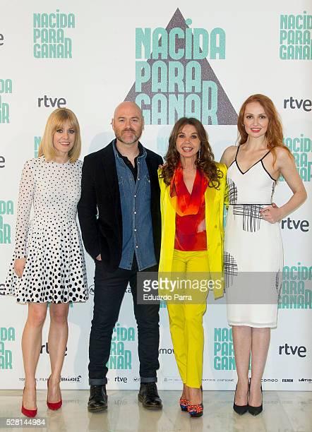 Actress Alexandra Jimenez director Vicente Villanueva actress Victoria Abril and actress Cristina Castano attend the 'Nacida para ganar' photocall at...