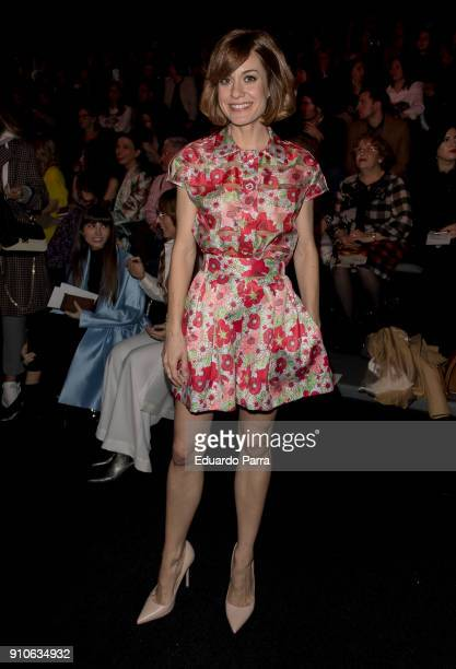 Actress Alexandra Jimenez is seen at the The 2ND Skin Co show during MercedesBenz Fashion Week Madrid Autumn/ Winter 201819 at Ifema on January 26...