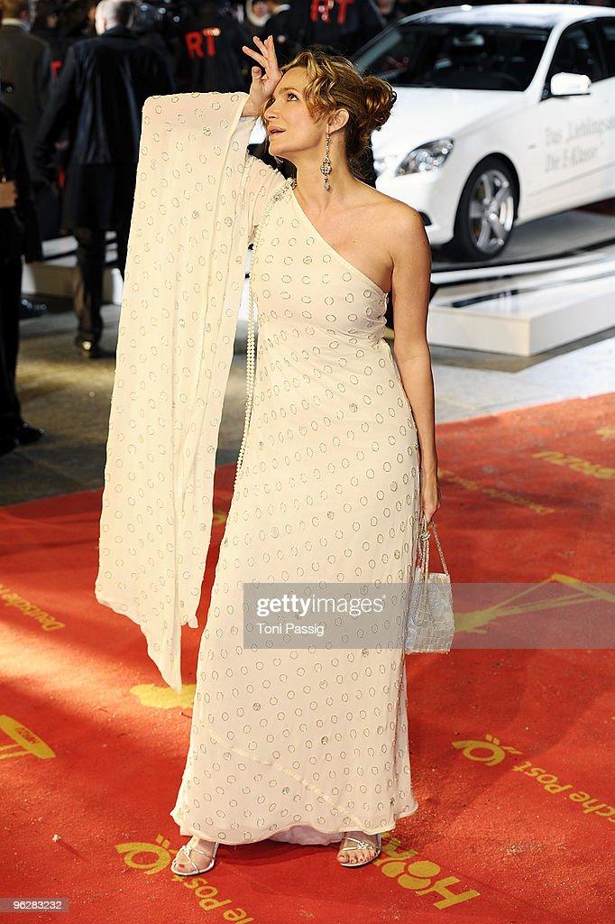 Actress Alexandra Kamp attends the Goldene Kamera 2010 Award at the Axel Springer Verlag on January 30, 2010 in Berlin, Germany.
