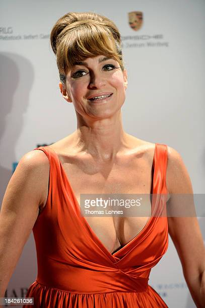 Actress Alexandra Kamp poses during the Minx fashion night at Residenz on October 12 2013 in Wuerzburg Germany The benefit of the charity gala is for...