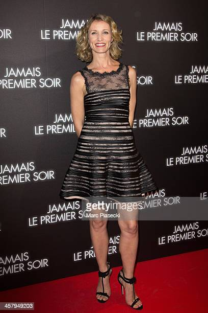 Actress Alexandra Lamy attends the 'Jamais le premier soir' Premiere on December 19 2013 in Paris France
