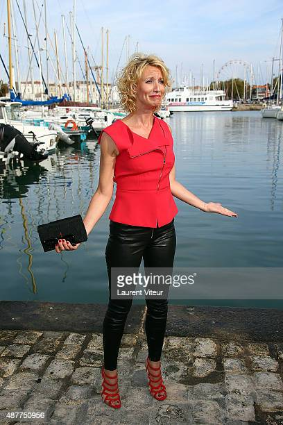 Actress Alexandra Lamy attends the 'Une Chance de Trop' Photocall during the 17th Festival of TV Fiction At La Rochelle on September 11 2015 in La...