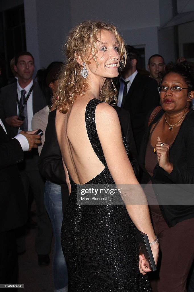 Actress Alexandra Lamy is sighting leaving the 'Palais des Festivals' after the 'Palme d'Or' ceremony on May 22, 2011 in Cannes, France.