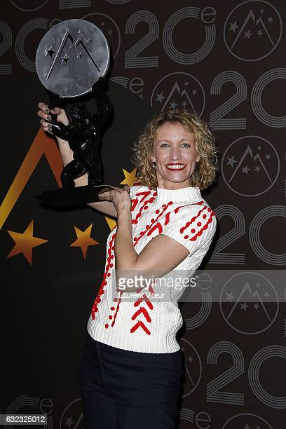 Actress Alexandra Lamy win the Best Actress Price during the 20th l'Alpe d'Huez International Comedy Film Festival on January 21 2017 in Alpe d'Huez...