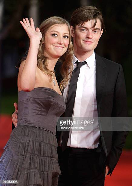 Actress Alexandra Maria Lara and actor Sam Riley attend The City Of Your Final Destination Premiere during day 2 of the 4th Rome International Film...