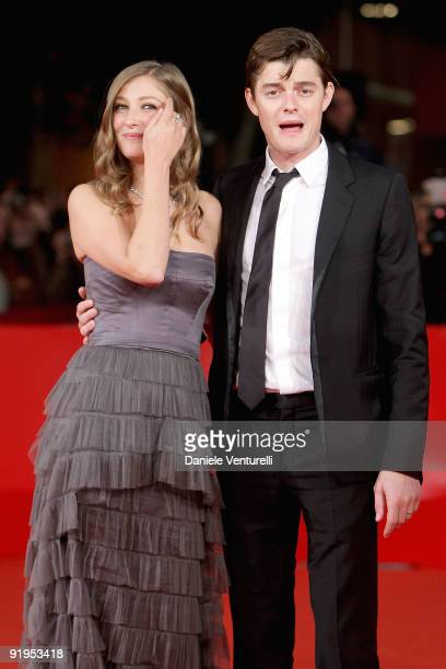 Actress Alexandra Maria Lara and actor Sam Riley attends The City Of Your Final Destination Premiere during day 2 of the 4th Rome International Film...