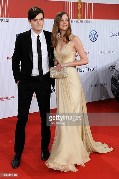 Actress Alexandra Maria Lara and husband actor Sam Riley attend the 'German film award 2010' at Friedrichstadtpalast on April 23 2010 in Berlin...