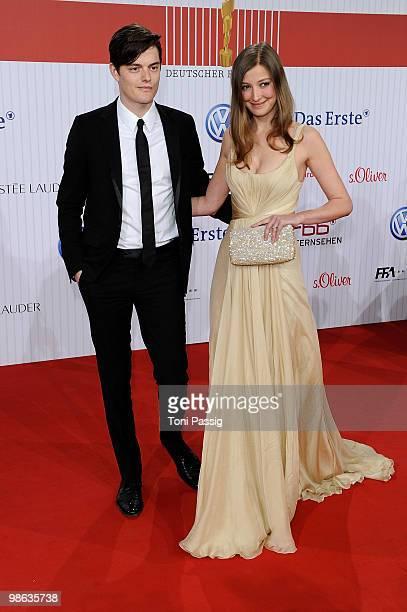Actress Alexandra Maria Lara and husband actor Sam Riley attend the 'German film award 2010' at Friedrichstadtpalast on April 23, 2010 in Berlin,...