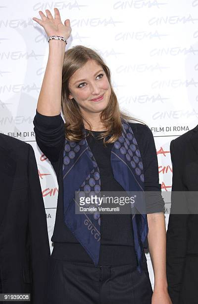 Actress Alexandra Maria Lara attends 'The City Of Your Final Destination' Photocall during day 2 of the 4th Rome International Film Festival held at...