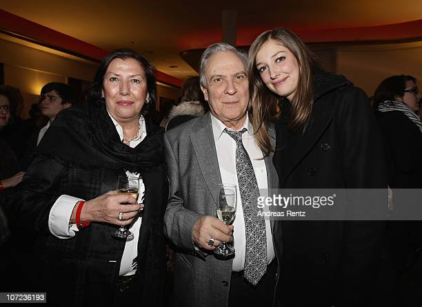 Actress Alexandra Maria Lara with her parents Doina Platareanu and Valentin Platareanu attend the after show party to the 'Small World' premiere at...