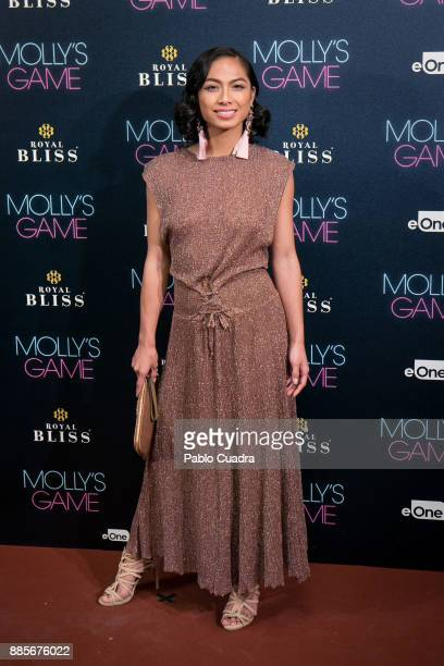 Actress Alexandra Masangkay attends 'Molly's Game' Madrid premiere at Callao Cinema on December 4 2017 in Madrid Spain