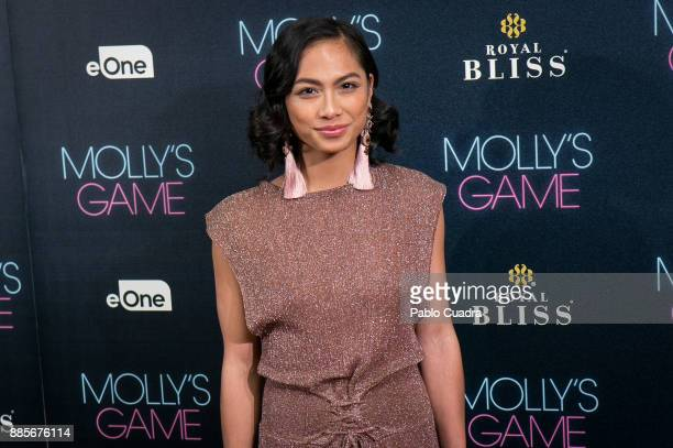 Actress Alexandra Masangkay attends 'Molly's Game' Madrid premiere at Callao Cinema on December 4, 2017 in Madrid, Spain.