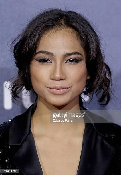 Actress Alexandra Masangkay attends the '1898, los ultimos de Filipinas' premiere at Kinepolis cinema on November 29, 2016 in Madrid, Spain.