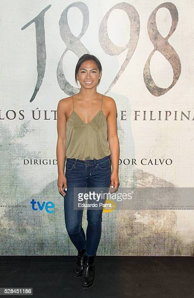 Actress Alexandra Masangkay attends the '1898 Los ultimos de Filiponas' photocall at Oscar hotel on May 05 2016 in Madrid Spain