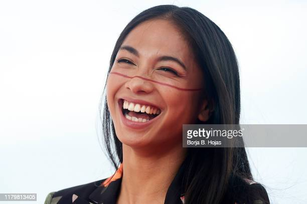 Actress Alexandra Masangkay during the photocall of 'El Hoyo' on October 08 2019 in Sitges Spain