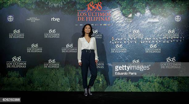 Actress Alexandra Masngkay attends the '1898 Los Ultimos De Filipinas' photocall at the Naval Museum on November 28 2016 in Madrid Spain