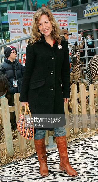 """Actress Alexandra Neldel arrives at the German premiere of """"Racing Stripes"""" on March 6, 2005 in Berlin, Germany."""