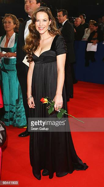 Actress Alexandra Neldel arrives to the Bambi Awards 2009 at the Metropolis Hall at the Filmpark Babelsberg on November 26 2009 in Potsdam Germany