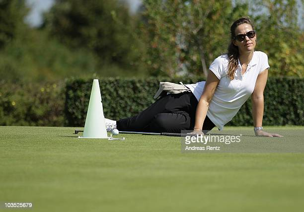 Actress Alexandra Neldel attends the BMW Adlon Golf Cup 2010 at Golf and Country Club Seddiner See on August 21, 2010 in Michendorf near Berlin,...