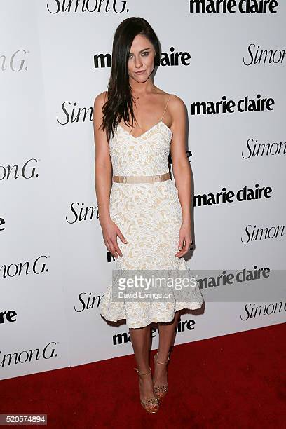 Actress Alexandra Park arrives at the Marie Claire Fresh Faces Party at the Sunset Tower Hotel on April 11 2016 in West Hollywood California