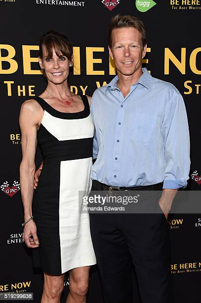 Actress Alexandra Paul and actor Ian Murray arrive at the premiere of Silver Lining Entertainment's 'Be Here Now' at the UTA Theater on April 5 2016...