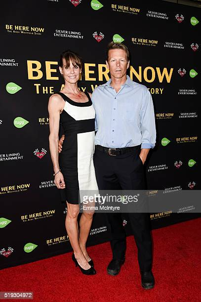 Actress Alexandra Paul and actor Ian Murray arrive at the premiere of Silver Lining Entertainment's 'Be Here Now' at UTA Theater on April 5 2016 in...