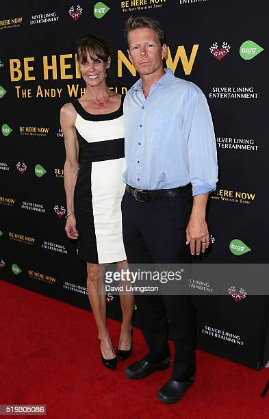 Actress Alexandra Paul and husband actor Ian Murray attend the premiere of Silver Lining Entertainment's 'Be Here Now' at the UTA Theater on April 5...