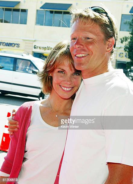Actress Alexandra Paul and husband Ian Murray arrive at the world premiere of 'Grand Champion' at the Crest Theatre on August 22 2004 in Los Angeles...