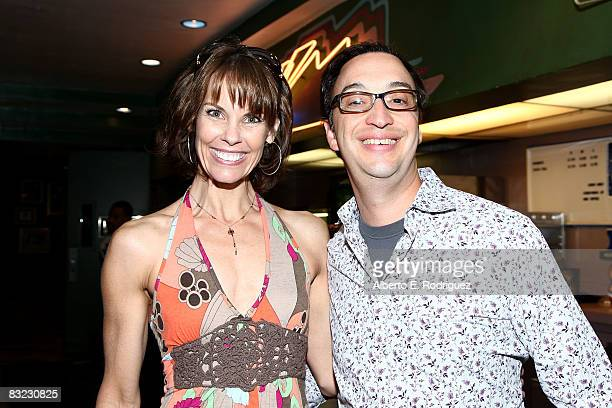 Actress Alexandra Paul and Paul Colichman arrive at the premiere of Regent Entertainment's 'Tru Loved' held at the Regent Showcase Theater on October...