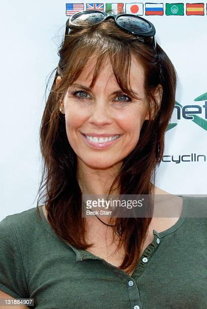 Actress Alexandra Paul arrives at The 100 Mile Man And The Harold Robinson Foundation's Pedal On The Pier Fundraiser at Santa Monica Pier on June 5...