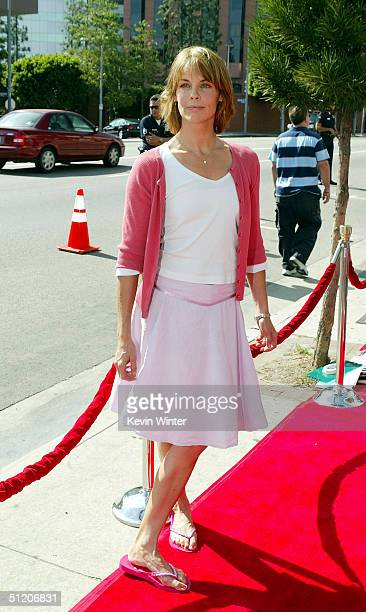 Actress Alexandra Paul arrives at the world premiere of Grand Champion at the Crest Theatre on August 22 2004 in Los Angeles California