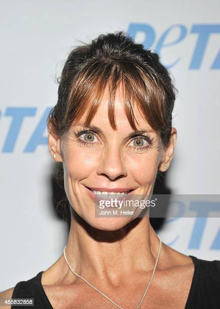 Actress Alexandra Paul attends PETA's Vegan Luau at Sam Simon's home on September 20 2014 in the Pacific Palisades California