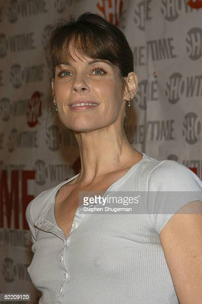 Actress Alexandra Paul attends Showtime's 'The LWorld' second season premiere at The Directors Guild of America on February 16 2005 in Los Angeles...