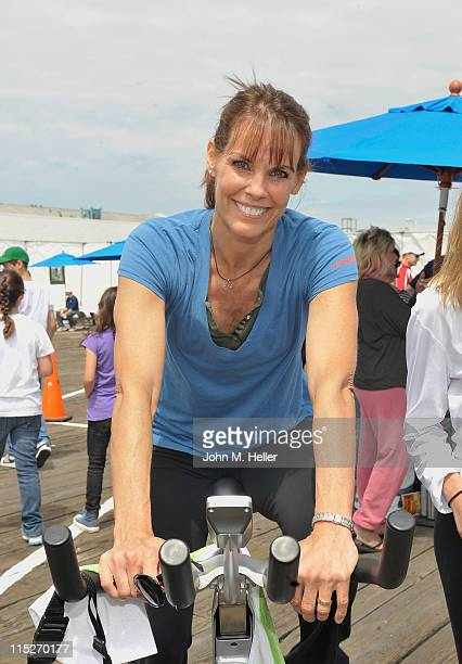 Actress Alexandra Paul attends the 100 Mile Man Foundation's Pedal On The Pier at the Santa Monica Pier on June 5 2011 in Santa Monica California