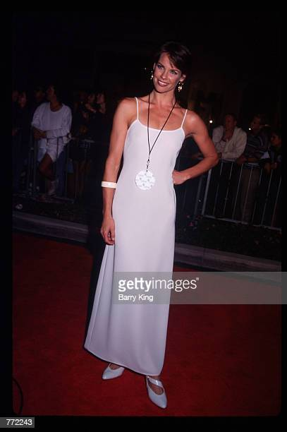Actress Alexandra Paul attends the opening of Planet Hollywood September 17 1995 in Los Angeles CA The Beverly Hills branch had one of the most...