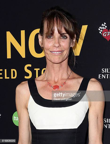 Actress Alexandra Paul attends the premiere of Silver Lining Entertainment's 'Be Here Now' at the UTA Theater on April 5 2016 in Los Angeles...