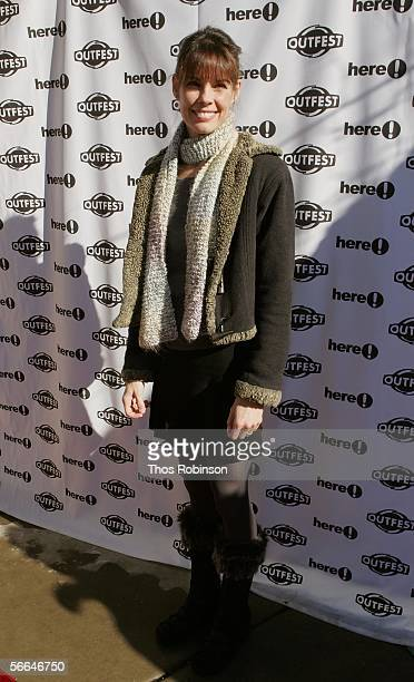 Actress Alexandra Paul attends the Sundance Outfest Queer Brunch with John Waters at Grub Steak Restaurant during the 2006 Sundance Film Festival...