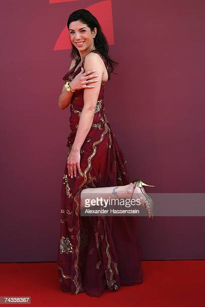 Actress Alexandra Polzin arrives for the 'Blaue Panther' Bavarian Television Award 2007 Ceremony at the Prinzregenten Theater on May 25 2007 in...