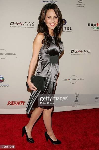 Actress Alexandra Rapaport attends the 34th International Emmy Awards Gala at the New York Hilton on November 20 2006 in New York City