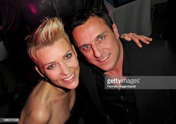 Actress Alexandra Rietz and Christian Abt attend the ABC For Kids Charity Event at the baSH Club on December 16 2011 in Munich Germany