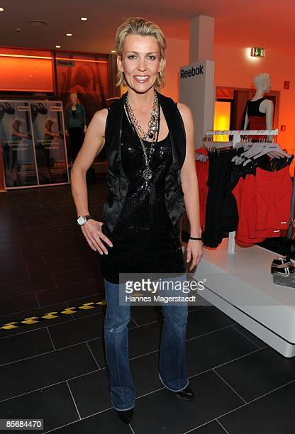 Actress Alexandra Rietz attends the Jukari 'fit to fly' studio opening at the Body and Soul Center on March 28 2009 in Brunnthal Germany