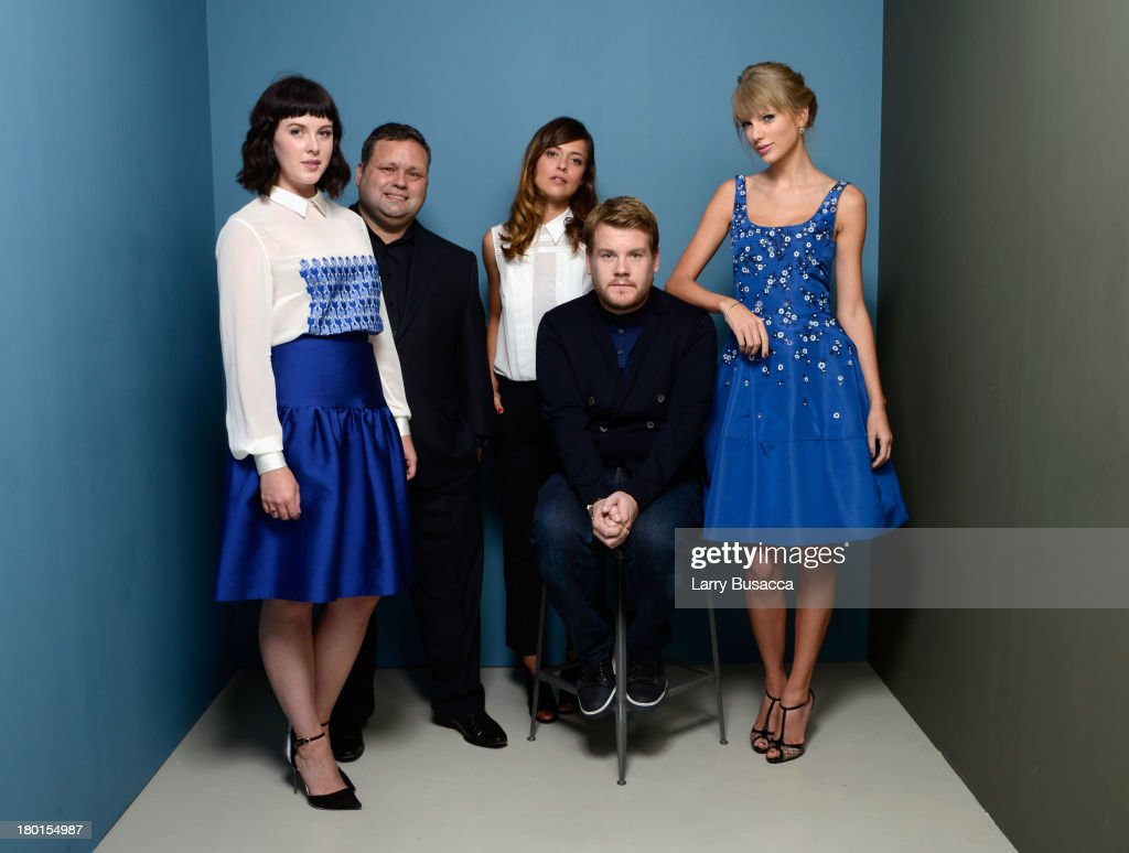 Actress Alexandra Roach, singer Paul Potts, actress Valeria Bilello, actor James Corden and actress Taylor Swift of 'One Chance' pose at the Guess Portrait Studio during 2013 Toronto International Film Festival on September 9, 2013 in Toronto, Canada.
