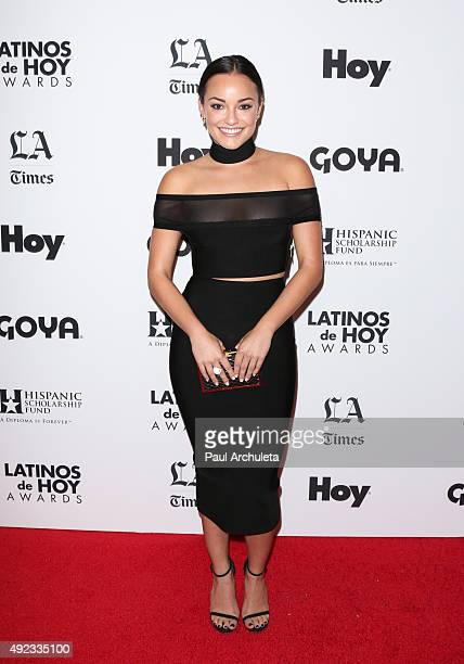 Actress Alexandra Rodriguez attends the 2015 Latinos De Hoy Awards at The Dolby Theatre on October 11 2015 in Hollywood California