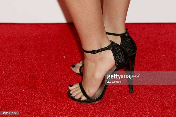Actress Alexandra Rodriguez shoe detail attends The Los Angeles Times and Hoy 2015 Latinos de Hoy Awards at Dolby Theatre on October 11 2015 in...