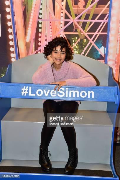Actress Alexandra Shipp attends as YouTuber Joey Graceffa Introduces 'Love Simon' in Atlanta with Author Becky Albertalli and Actress Alexandra Shipp...