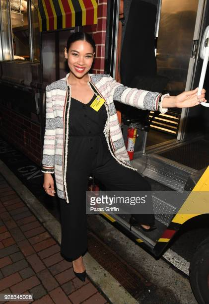 """Actress Alexandra Shipp attends """"Love, Simon"""" Atlanta Fan Screening and Q&A at the Waffle House Food Truck at Regal Atlantic Station on March 6, 2018..."""