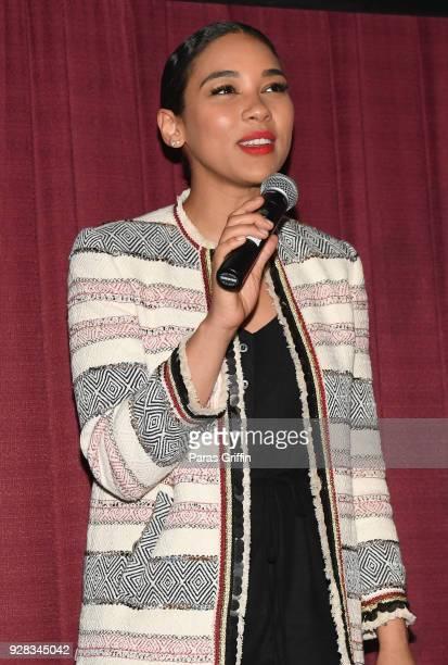 "Actress Alexandra Shipp attends ""Love, Simon"" Atlanta Fan Screening and Q&A at at Regal Atlantic Station on March 6, 2018 in Atlanta, Georgia."