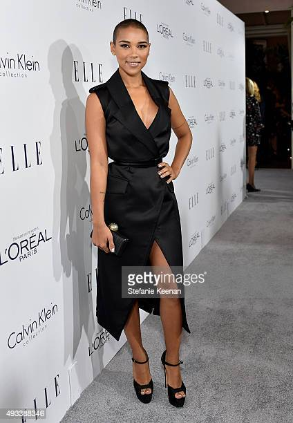 Actress Alexandra Shipp attends the 22nd Annual ELLE Women in Hollywood Awards presented by Calvin Klein Collection L'Oréal Paris and David Yurman at...