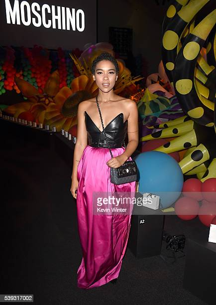 Actress Alexandra Shipp attends the Moschino Spring/Summer 17 Menswear and Women's Resort Collection during MADE LA at LA LIVE Event Deck on June 10...